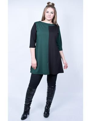 Туника SPARADA. Цвет: черный, зеленый