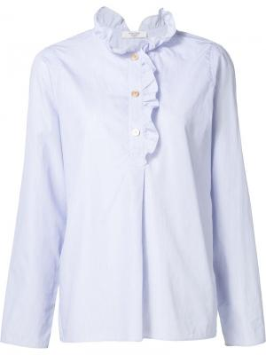 Рубашка с рюшами Atlantique Ascoli. Цвет: синий
