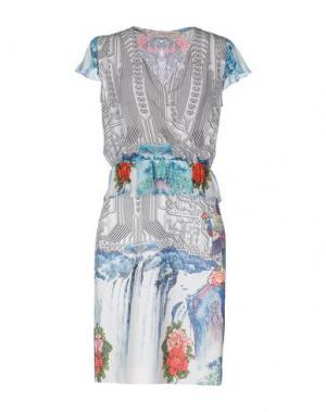 Платье до колена PICCIONE•PICCIONE. Цвет: светло-серый