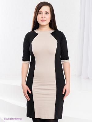 Платье Klimini. Цвет: черный, светло-бежевый