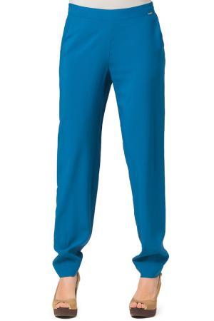 Прямые брюки с карманами Helmidge. Цвет: синий