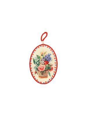 Подставка под горячее Розы с ландышами Elan Gallery. Цвет: бежевый, розовый, зеленый