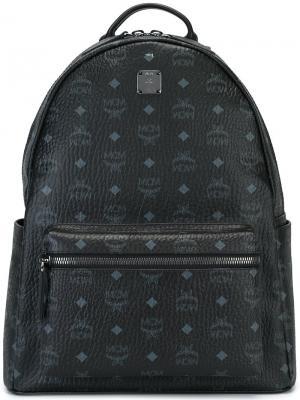 Рюкзак с принтом логотипа MCM. Цвет: чёрный