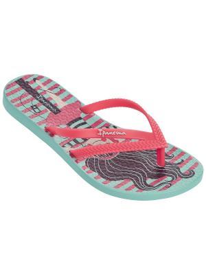 Пантолеты Ipanema. Цвет: зеленый, розовый