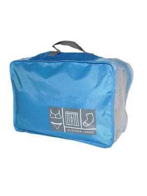 Органайзер для чемодана HOBBY LINE. Цвет: голубой