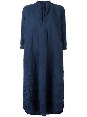 Платье-туника с V-образным вырезом Daniela Gregis. Цвет: синий