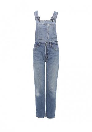 Комбинезон джинсовый Forte Couture. Цвет: голубой