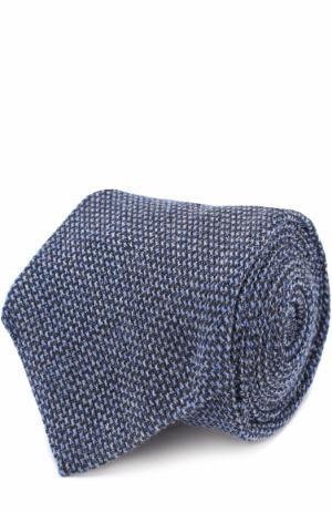 Галстук из смеси кашемира и шерсти с шелком Kiton. Цвет: голубой