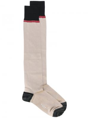 Носки дизайна колор-блок Calza Marni. Цвет: коричневый