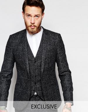 Noak Зауженный пиджак в крапинку. Цвет: серый