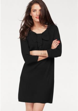 Платье VIVANCE. Цвет: серый меланжевый, черный