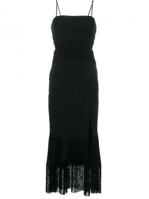 Платье с разрезом Jonathan Simkhai. Цвет: чёрный