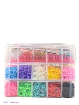 3-х ярусный набор для плетения браслетов из резинок Loom Twister. Цвет: синий, зеленый, салатовый, оранжевый, розовый, белый