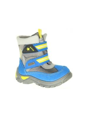 Ботинки Bartek. Цвет: синий, желтый, серый