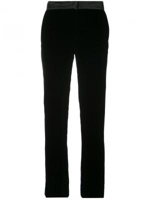 Бархатные брюки скинни Oscar de la Renta. Цвет: чёрный