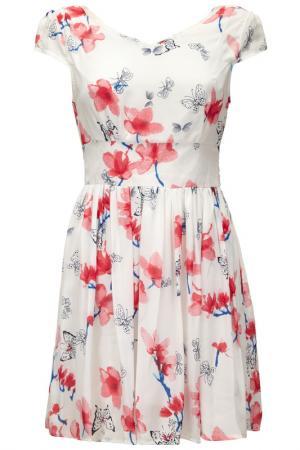 Платье Iska. Цвет: pink and blue