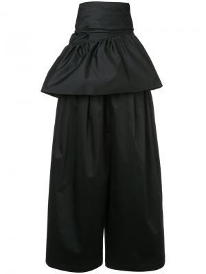 Широкие брюки с баской на талии Tome. Цвет: чёрный