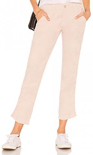 Облегающие брюки edith NSF. Цвет: беж