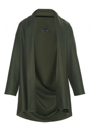 Кардиган из искусственного шелка и шерсти 184158 Cyrille Gassiline. Цвет: зеленый