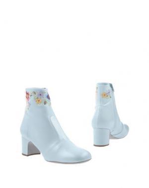 Полусапоги и высокие ботинки RAYNE. Цвет: небесно-голубой