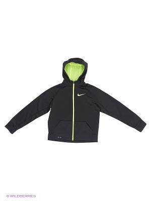 Толстовка B NK THRMA HOODIE FZ Nike. Цвет: черный
