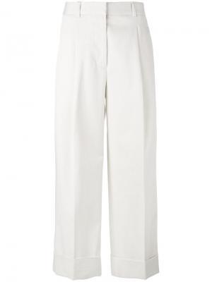 Укороченные прямые брюки 3.1 Phillip Lim. Цвет: белый