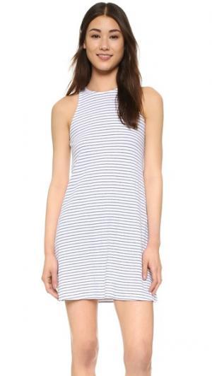 Платье без рукавов Bare The Lady & Sailor. Цвет: белый жатый в полоску