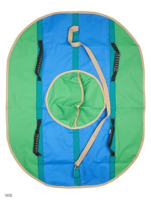 Санки надувные Ватрушка Метиз. Цвет: синий, зеленый