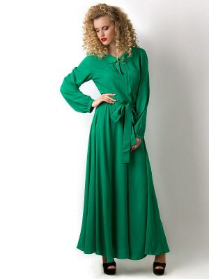 Платье Vika Smolyanitskaya. Цвет: зеленый