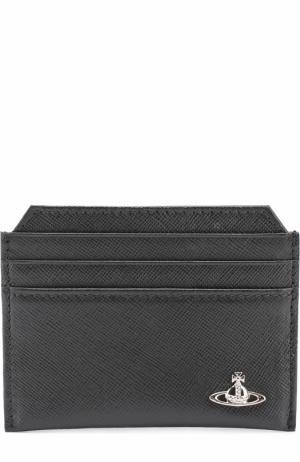Кожаный футляр для кредитных карт Vivienne Westwood. Цвет: черный
