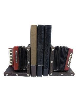 Набор держателей для книг Аккордеон Miolla. Цвет: черный