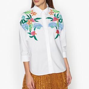 Рубашка с вышивкой OXLEYEMBO ESSENTIEL ANTWERP. Цвет: небесно-голубой