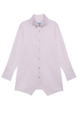 Хлопковая рубашка MoS. Цвет: розовый