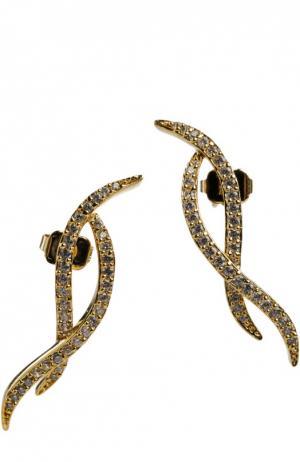 Серьги JLC Accessories. Цвет: золотой