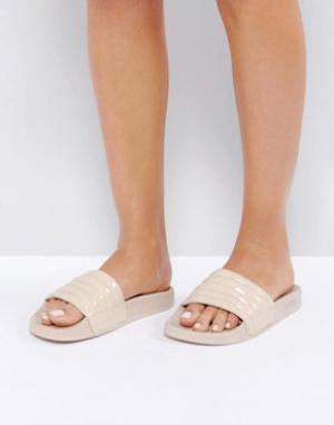 Slydes Телесные сандалии Port. Цвет: бежевый