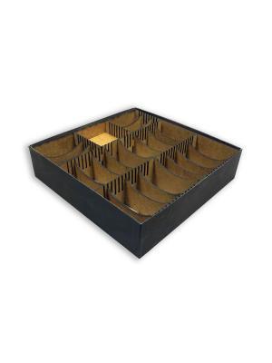 Органайзер для настольных игр. Вместимость - до 1200 карт в протекторах. Правильные игры. Цвет: коричневый
