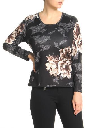 Блузка Elisa Fanti. Цвет: черный