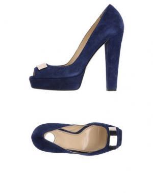Туфли ELISABETTA FRANCHI. Цвет: темно-синий