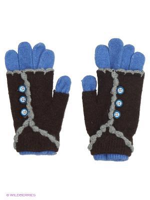 Перчатки Shapkoff. Цвет: голубой, темно-коричневый