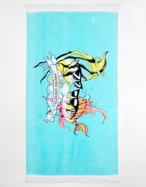 MAMBO Полотенце с принтом рыбы-ангела X Emma Mulholland. Цвет: мульти