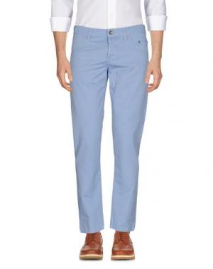 Повседневные брюки SIVIGLIA. Цвет: небесно-голубой