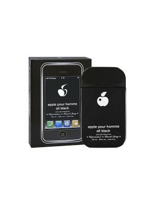 Туалетная вода Apple pour homme all black (Аппле пур хомме Олл Блэк) муж. 100мл PARFUMS. Цвет: прозрачный