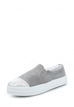 Слипоны Sweet Shoes. Цвет: серый