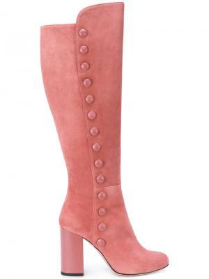 Декорированные сапоги Francesca Mambrini. Цвет: розовый и фиолетовый