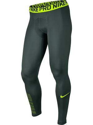 Тайтсы M NP TGHT GFX Nike. Цвет: зеленый, желтый