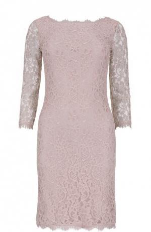 Кружевное платье-футляр Diane Von Furstenberg. Цвет: бежевый