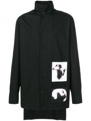 Рубашка с принтом ghost D.Gnak. Цвет: чёрный