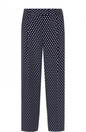 Укороченные широкие брюки с горох MICHAEL Kors. Цвет: синий