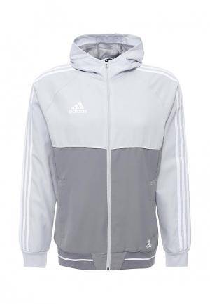 Ветровка adidas Performance. Цвет: серый