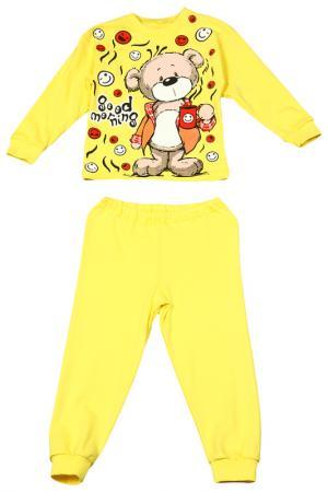 Пижама M&D. Цвет: желтый